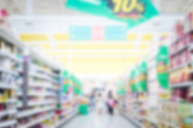 Blurred supermarket