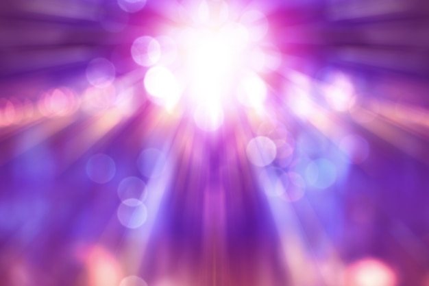 Blurred theater show with purple light on stage, abstract image of concert lighting