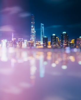 Blurred view of cityscape