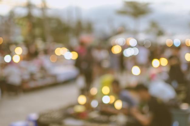 Blurred walking street market