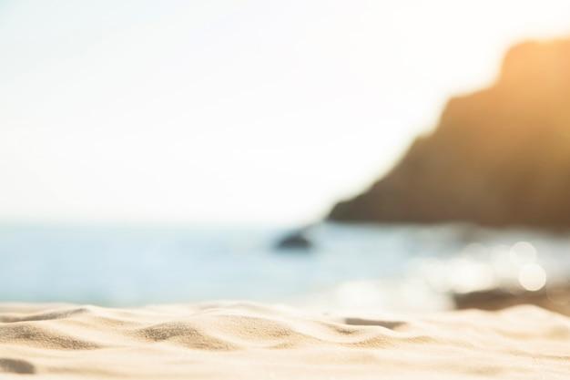ぼやけたビーチの背景