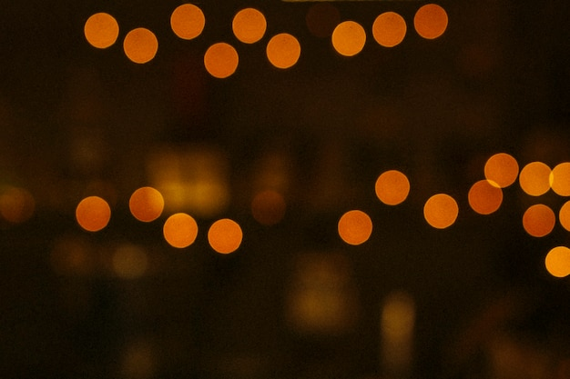 Blurry bokeh lights in the night Premium Photo