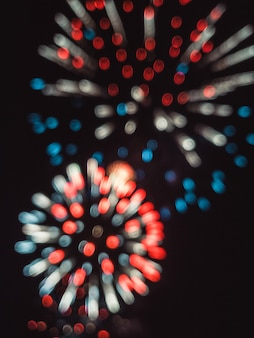 Blurry colorful fireworks