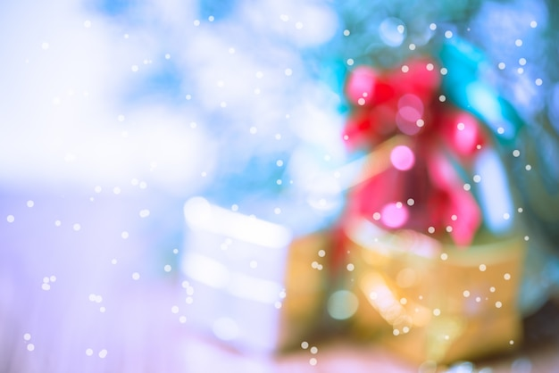 Blurry decorate christmas for background