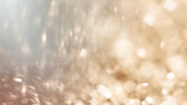 Blurry golden glitter background texture