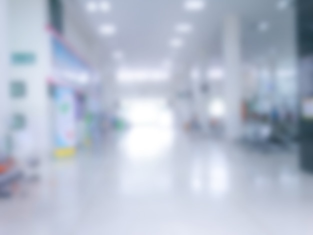 Blurry out patient department of hospital, blurred picture of helth center