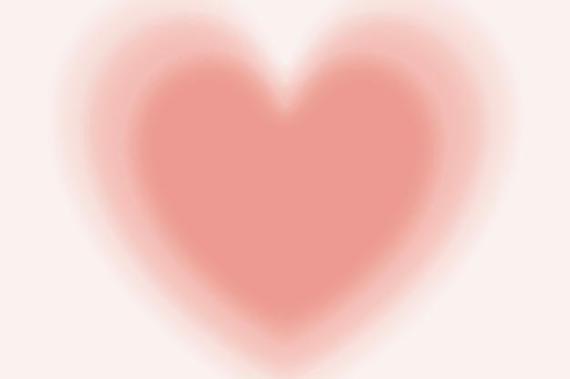 Blurry peach heart background in gradient vintage style