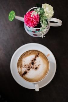 모호한 숟가락 커피 점심 맛