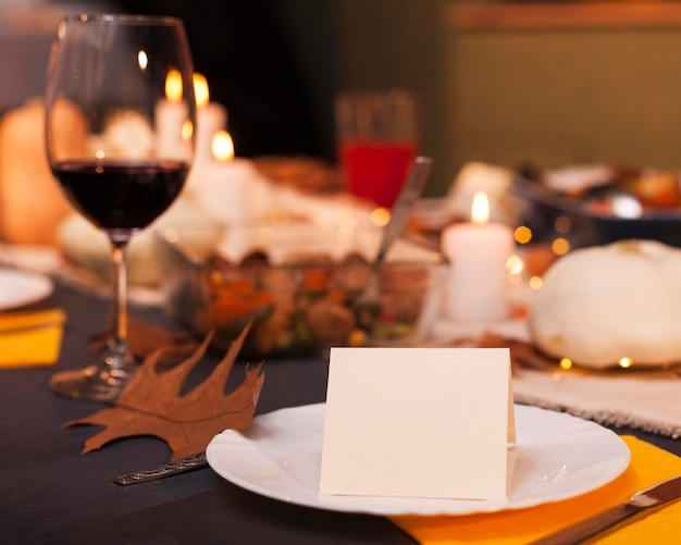 Blurry thanksgiving arrangement