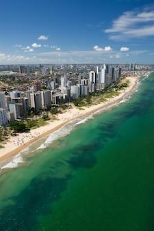 Boa viagem beach recife pernambuco brazil aerial view