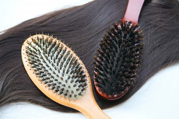 Boar hair bristle brush. comb