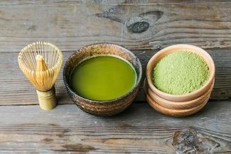 Board a bowl of tea Green Tea