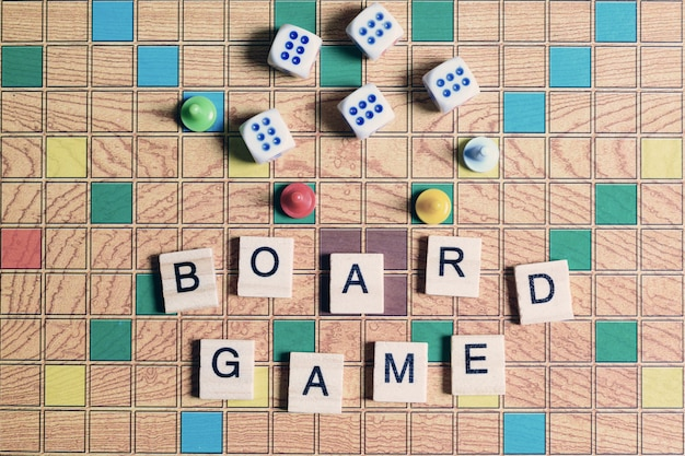 Board games, home entertainment, games, canvas, cubes, cones,