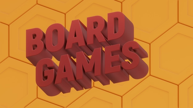 Boardgames 육각 포스터