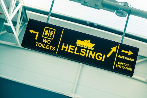 Boarding sign at tallinn port