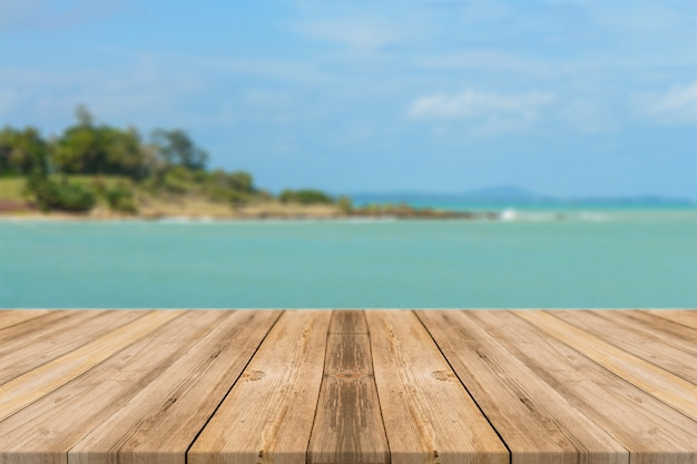 Boards with relaxed sea background