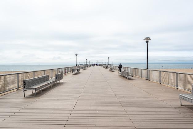 브라이튼 해변, 뉴욕, 미국에서 판자