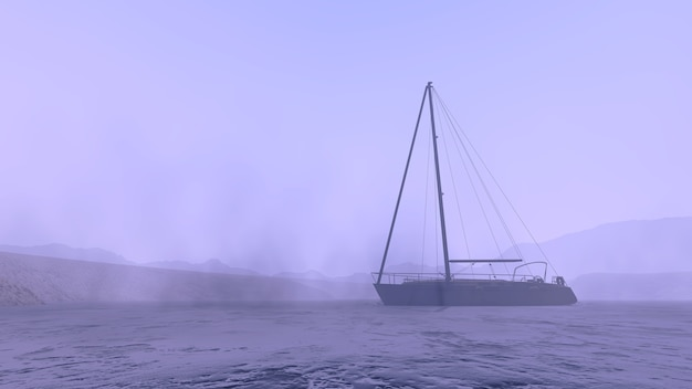 Boat on the arctic