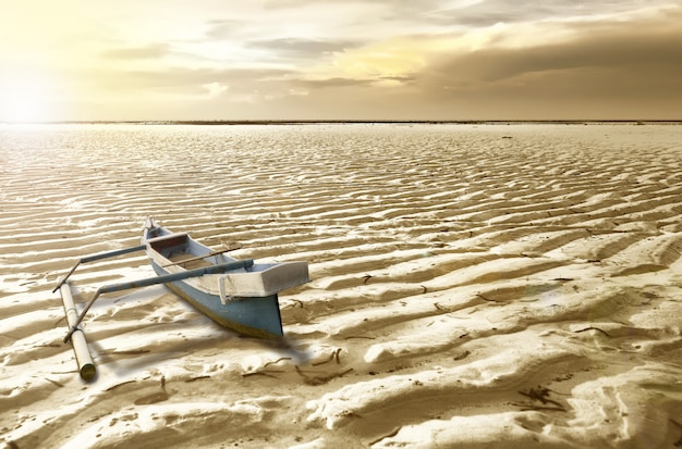 Boat on the dry ground