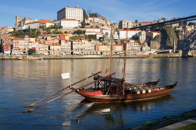 Boat in river douro in porto