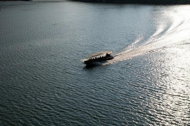 Boat on the river,kanchanaburi thailand