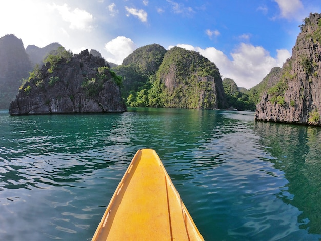 Boat sailing in the philippines
