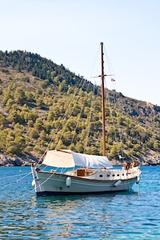 Boat on the sea, kefalonia