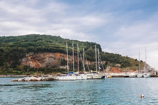 Boats in the gulf of la spezia. porto venere. liguria, italy.
