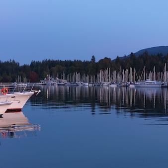 Boats at the marina in vancouver, british columbia