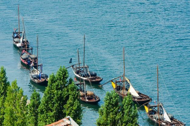 Boats in the porto river