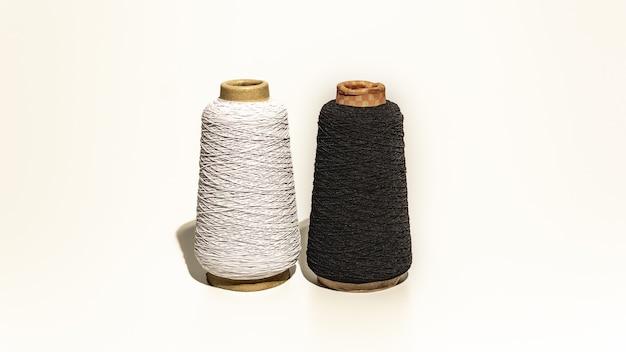 A bobbin of thick thread yarn