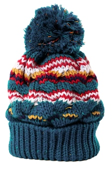Bobble hat isolated against a white background