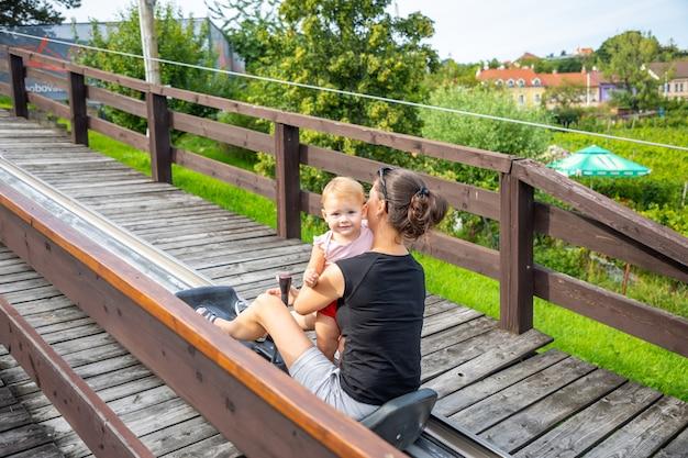Bobovadrahaまたはプラハのチェコ共和国でボブスレー