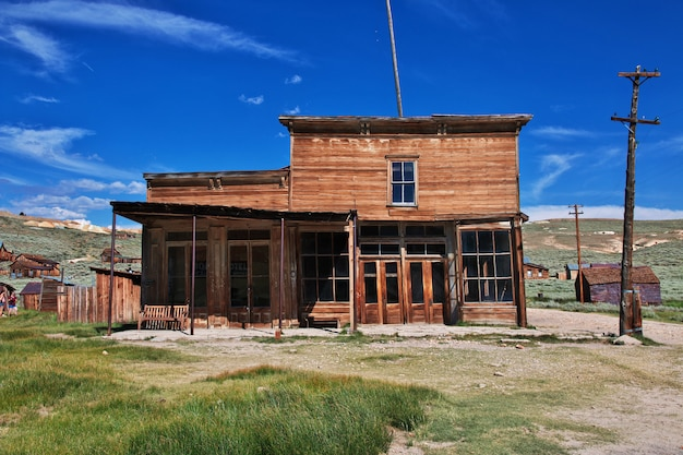 Bodie, abandoned city of gold diggers, usa