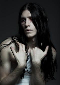 Body-art, young man
