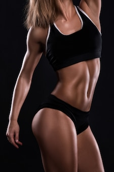 Body of fitness woman