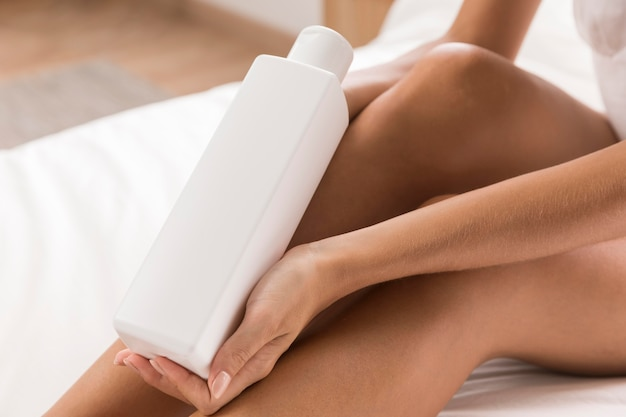 Body lotion self care at home