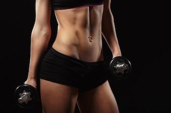 Body of woman athlete