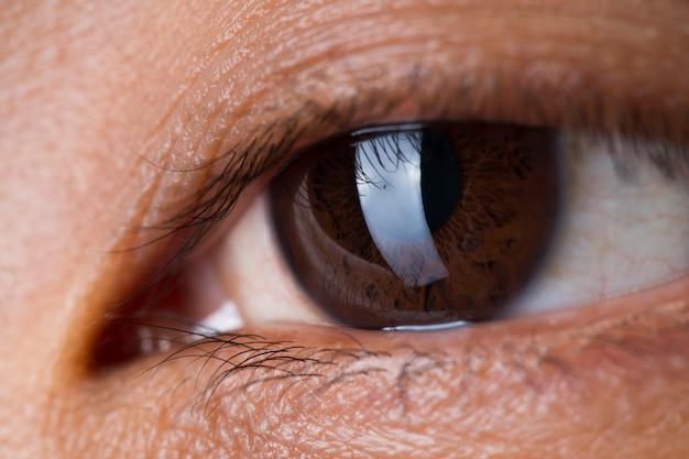 Body part eye eyelash skin close up