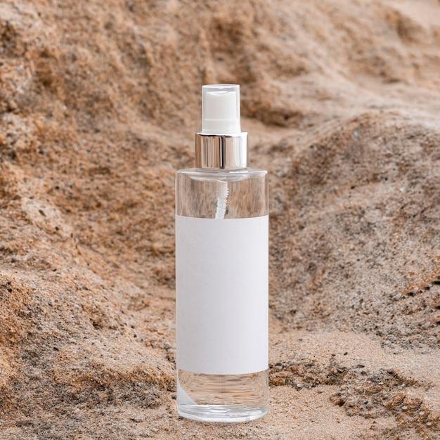 Destinatario del prodotto per il corpo nella sabbia
