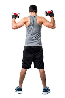 Bodybuilding atleta peso fitness maschio