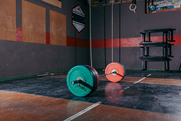 Bodybuilding barbell concept