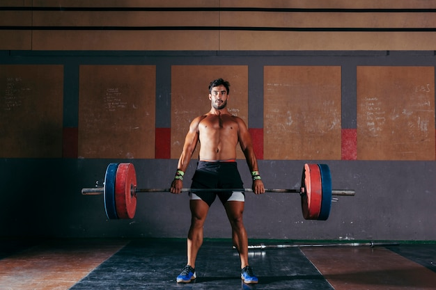 Bodybuilding and weightlifting concept