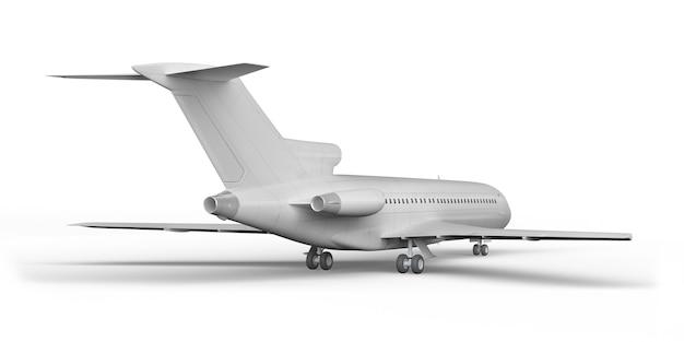 Пассажирский самолет boeing 727 3d рендер