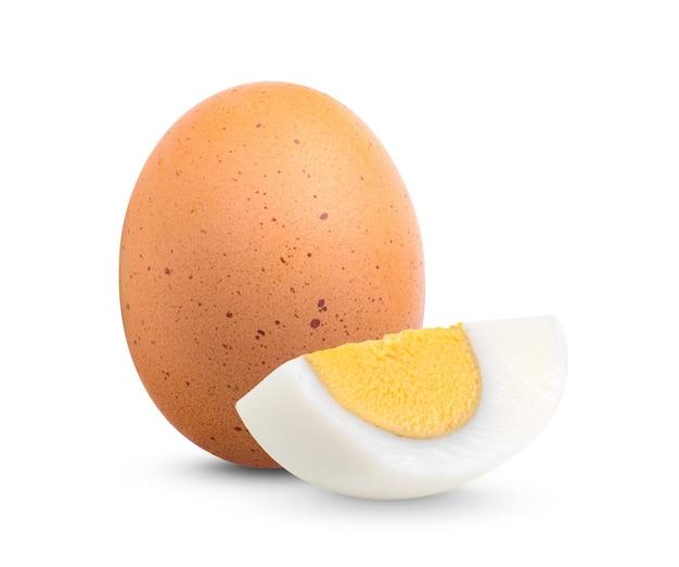 白身に分離されたゆで卵