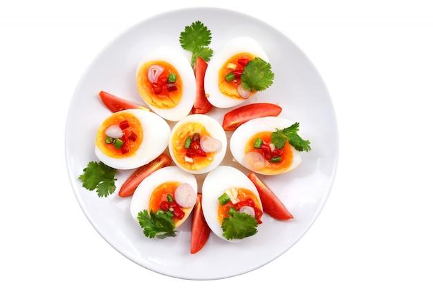 Boiled eggs salad , yum