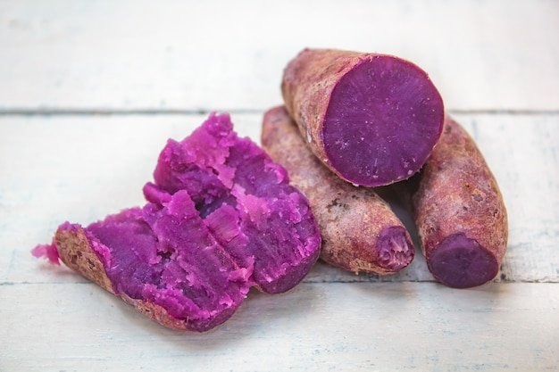 Boiled organic sweet potato