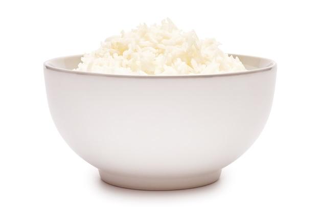 절연 세라믹 그릇에 삶은 쌀