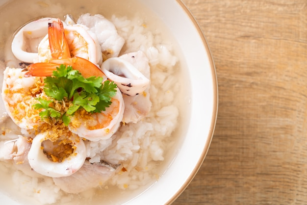 魚介の炊き込みご飯スープ