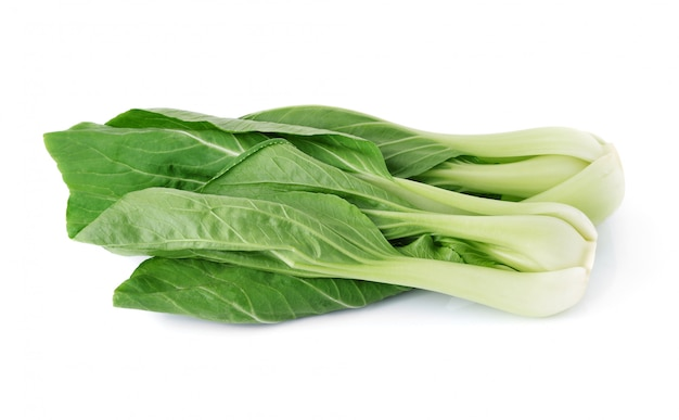 Bok choy vegetable isolated on the white.
